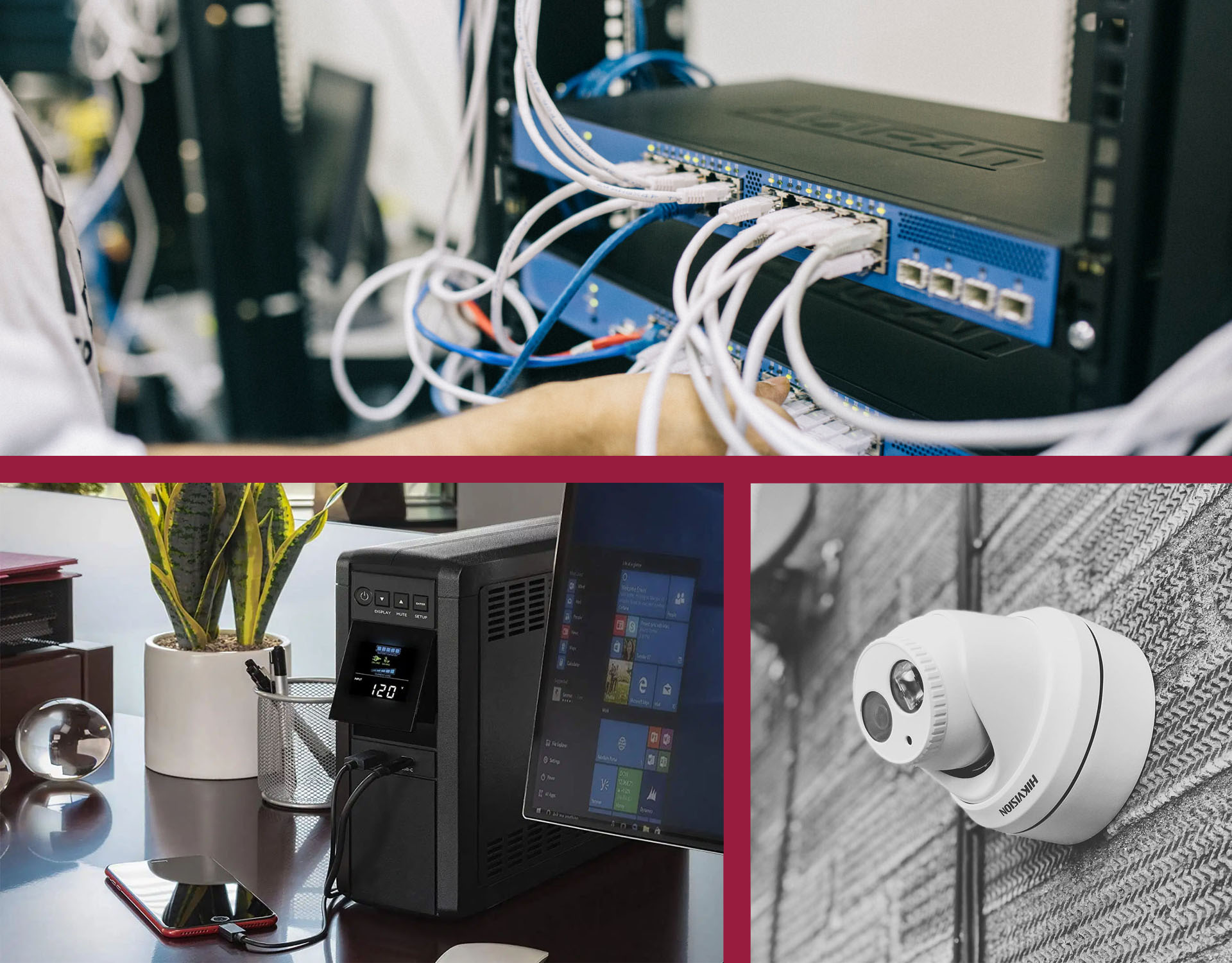 Hálózatépítés, Szünetmentes eszközök, Kamerarendszerek
